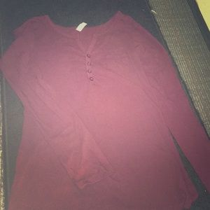 Long sleeve maroon colored